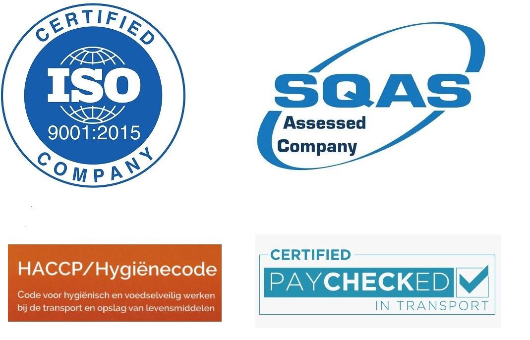 ISO 9001 2015 SQAS Logo Paychecked en Hygienecode
