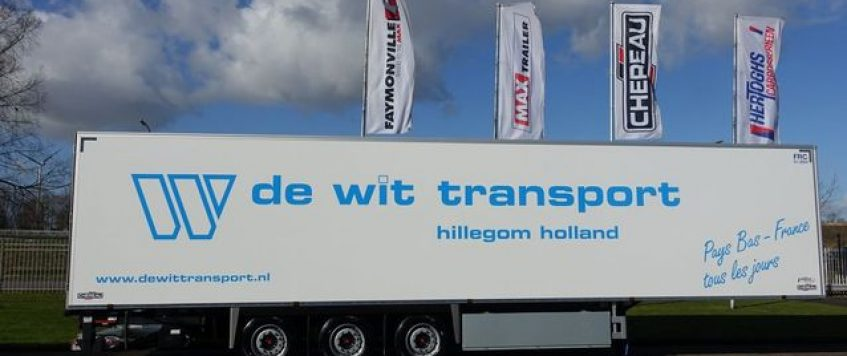 De Wit Transport Hillegom investeert in 5 Chereau koelers.